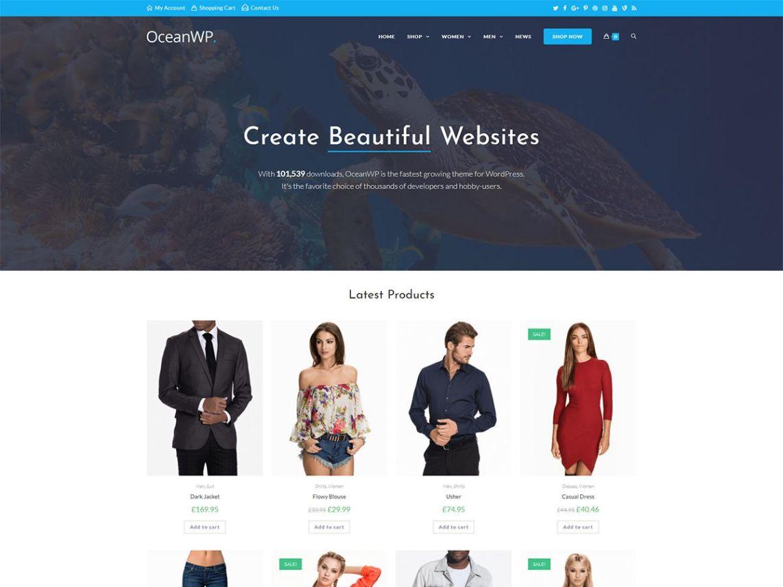 OceanWP WordPress free elementor Theme