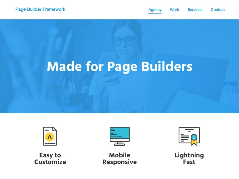 Page Builder Framework WordPress free elementor Themes