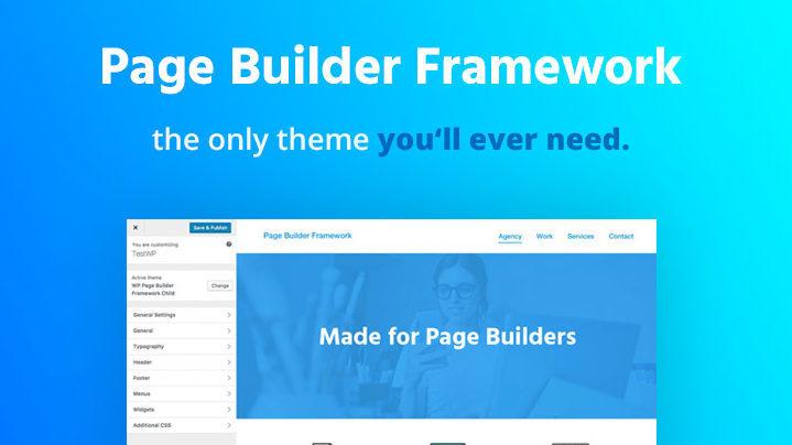 Page builder framework