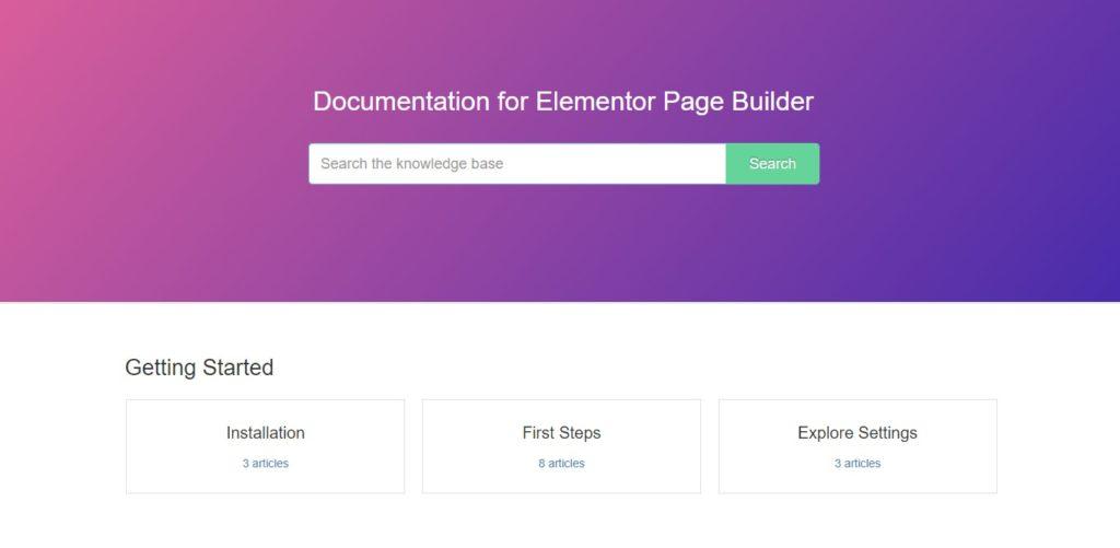 elementor documentation