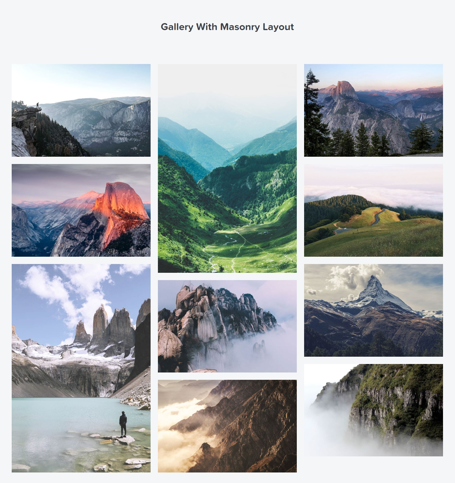 elementor masonry gallery