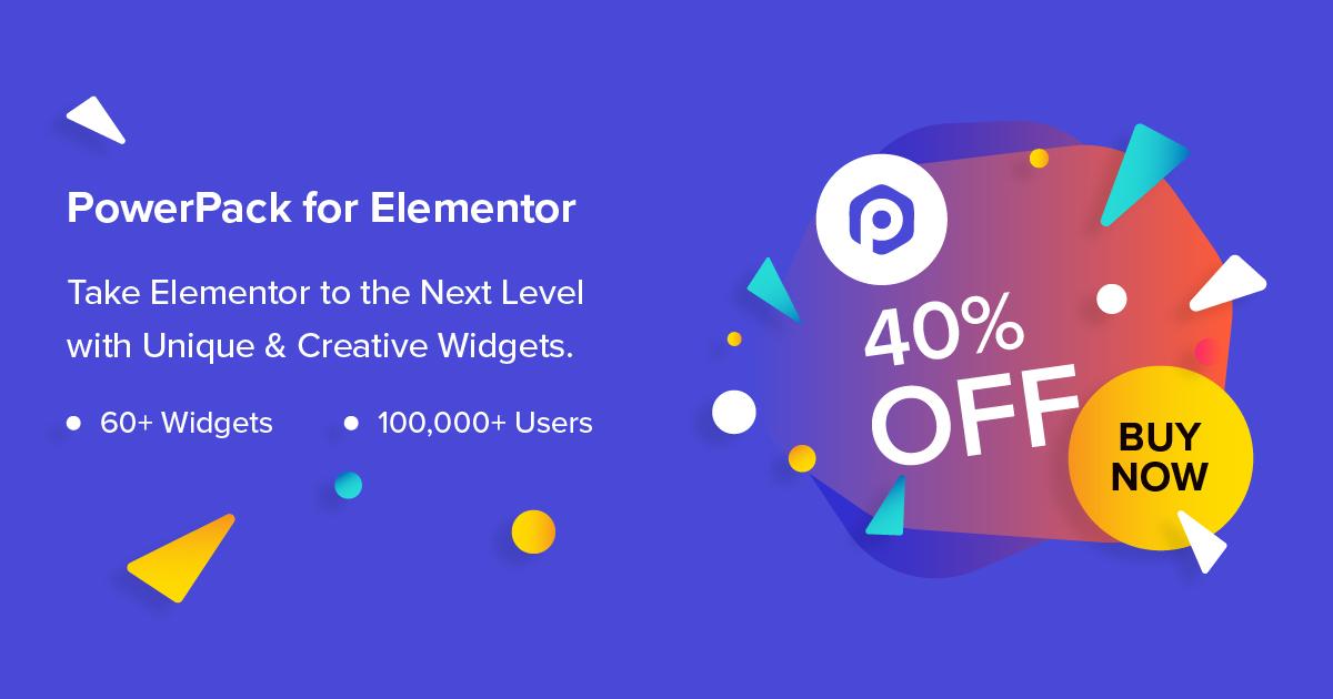 powerpack elementor black friday WordPress deal 2019