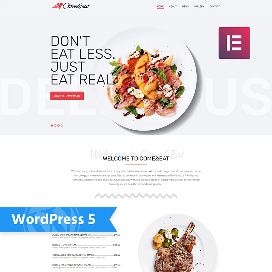 Restaurant Multipurpose Modern Elementor WordPress Theme