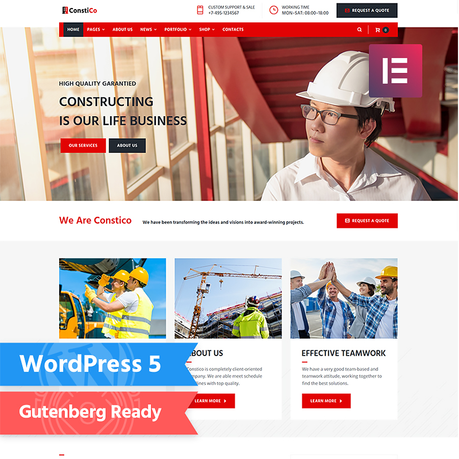 Construction Elementor WordPress Theme