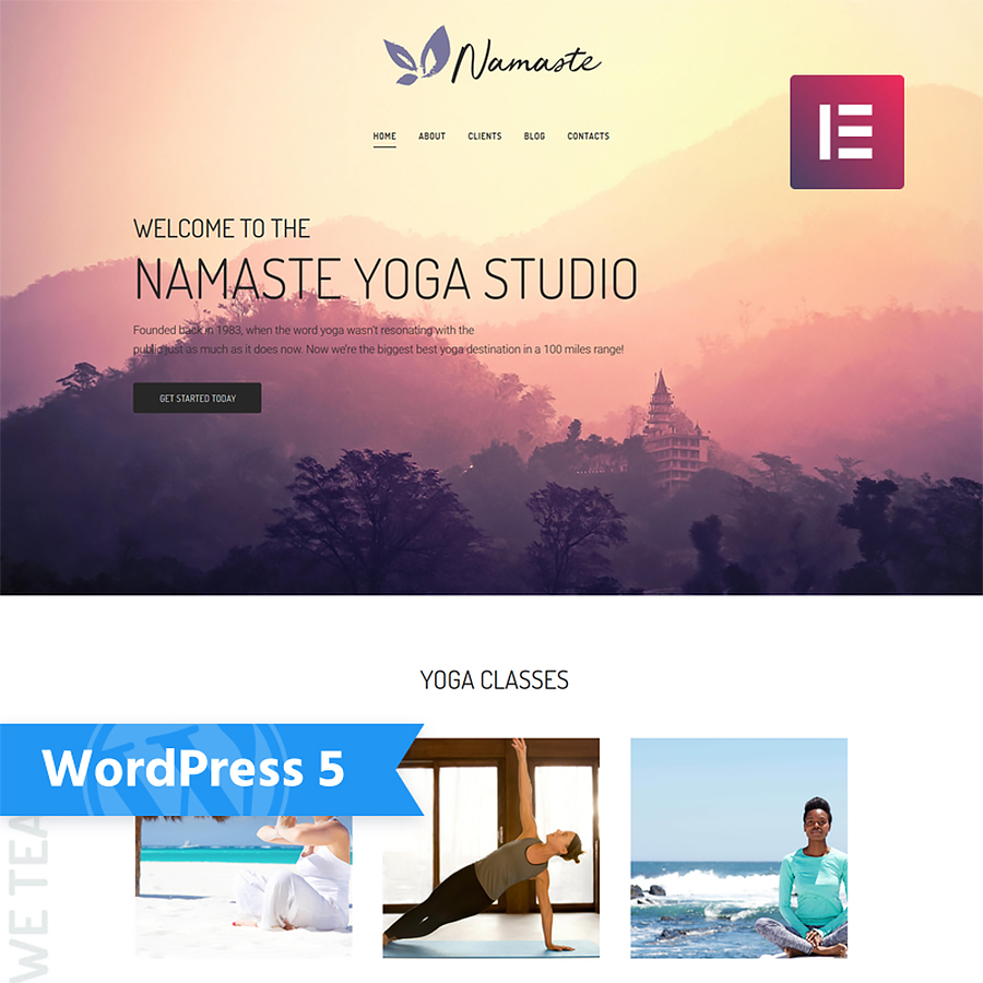 Yoga Studio Ready-to-use Minimal Elementor WordPress Theme