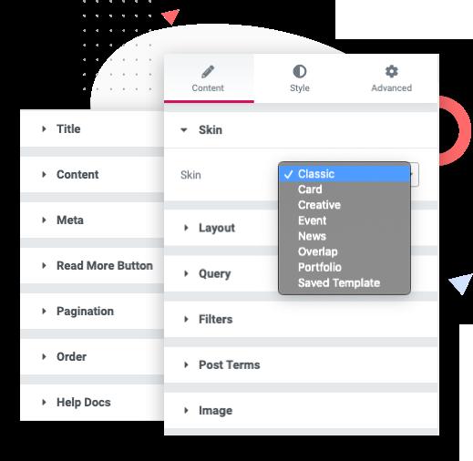 Elementor Posts Widget: Content tab