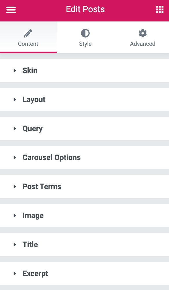 Elementor Post Widget: Layout Options