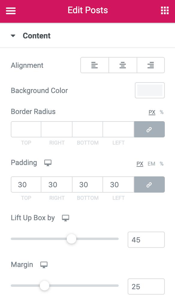 Elementor Post Widget:Styling Options