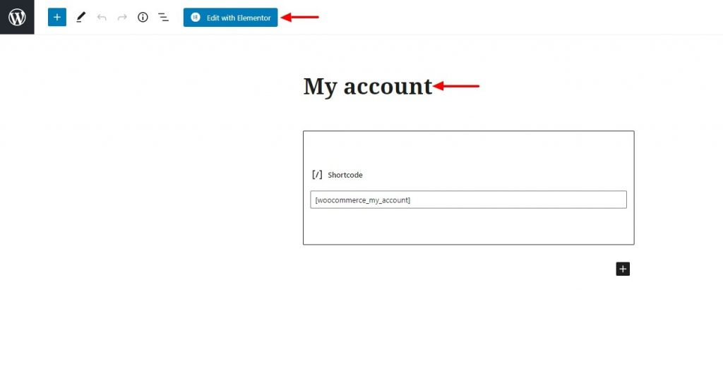 WooCommerce Elementor MY Account