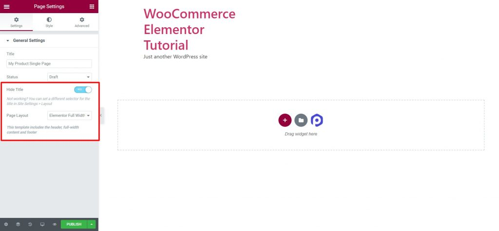 WooCommerce Elementor Guide Single page