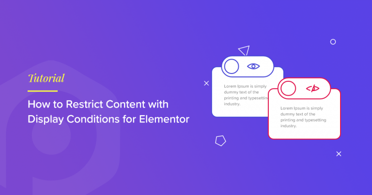display conditions elementor restrict content
