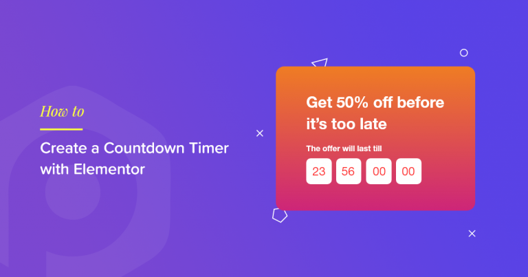 WordPress countdown timer elementor