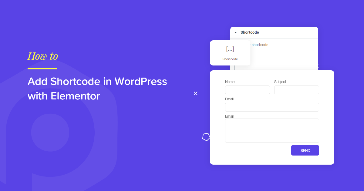 Add Shortcode in WordPress with Elementor