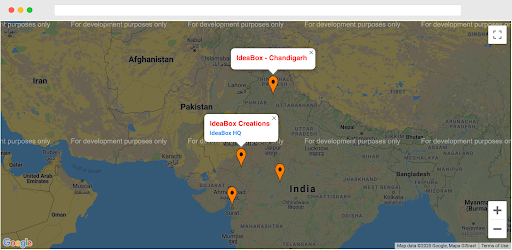 Display Google Maps with Multiple Locations