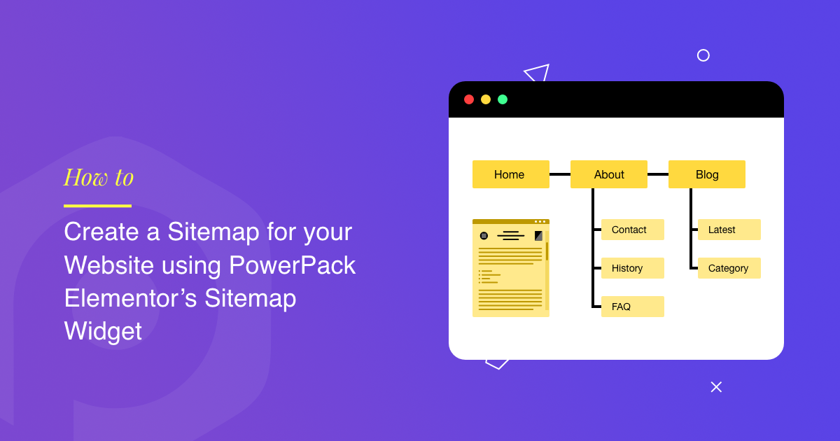 Create a Sitemap for your Website using PowerPack Elementor's Sitemap Widget
